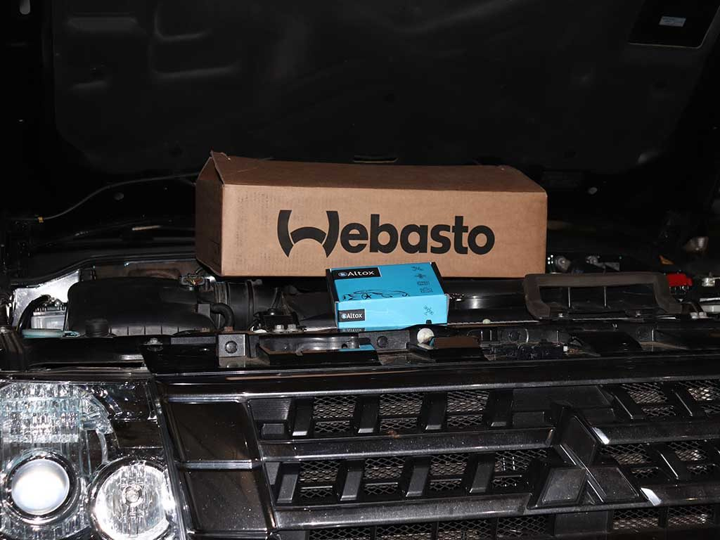Комплект для установки. Сам отопитель Webasto Thermo Top Evo и GSM модуль Altox W-BUS 5.