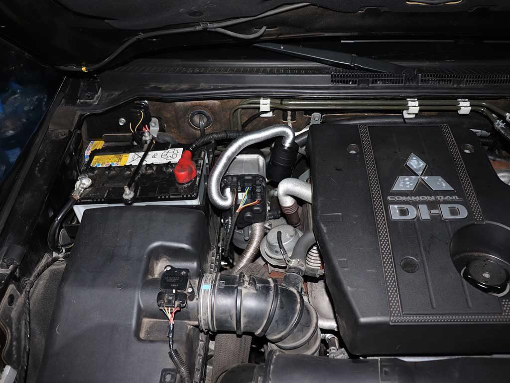 Webasto TT-EVO на дизельной паджеро 4. Общий вид.