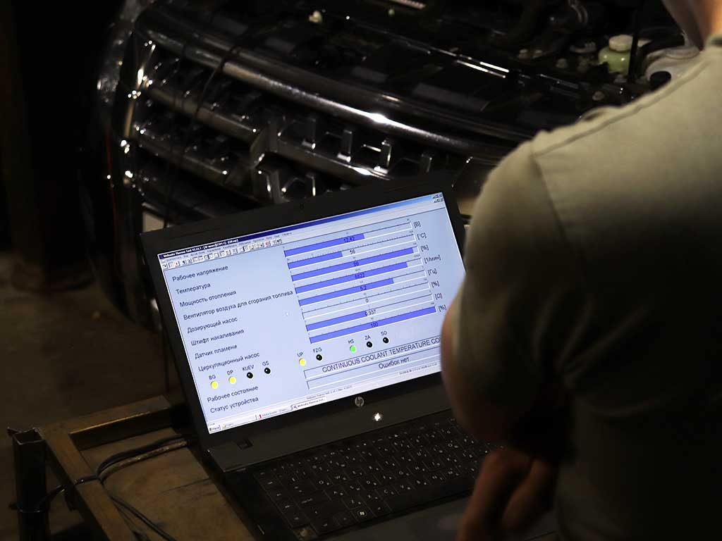 Заполнение топливной магистрали производится из диагностической программы Webasto Thermo Test. Первый запуск Вебасто всегда производится под «присмотром» диагностики.