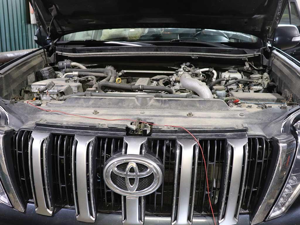 Пример неправильной установки Вебасто Toyota Land Cruiser Prado 150